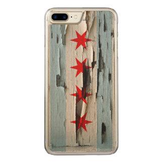 Coque Carved iPhone 8 Plus/7 Plus Peau de peinture de drapeau de Chicago