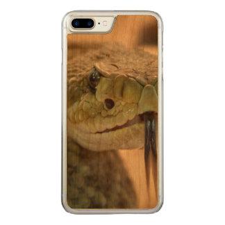 Coque Carved iPhone 8 Plus/7 Plus Photo de plan rapproché de serpent à sonnettes