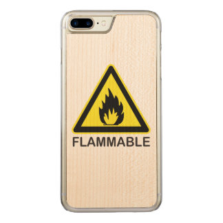 Coque Carved iPhone 8 Plus/7 Plus Signe de risque inflammable
