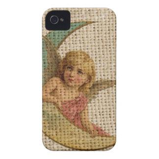 Coque Case-Mate iPhone 4 ange vintage de victorian de croissant de lune de