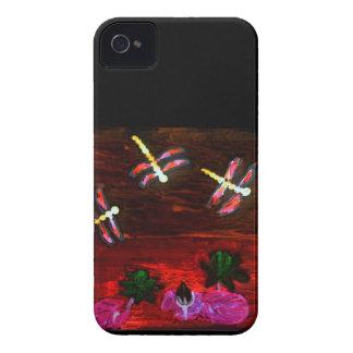 Coque Case-Mate iPhone 4 Art abstrait d'étang de lis de libellule