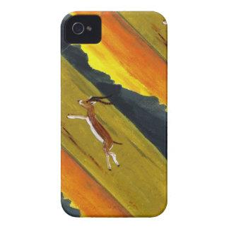 Coque Case-Mate iPhone 4 Art de faune de gazelle de coucher du soleil
