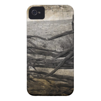 Coque Case-Mate iPhone 4 Barrière rustique rurale primitive de ferme de