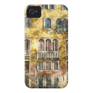 Coque Case-Mate iPhone 4 Bâtiments colorés de Venise Italie
