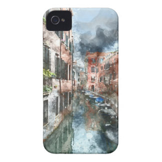Coque Case-Mate iPhone 4 Bâtiments et canaux colorés de Venise Italie