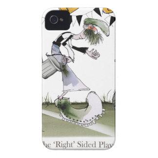 Coque Case-Mate iPhone 4 bon noir d'ailier du football + kit blanc