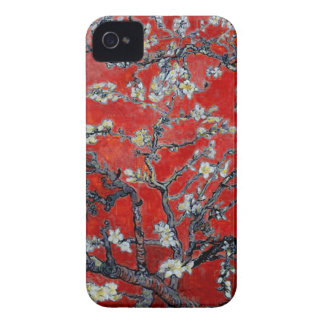 Coque Case-Mate iPhone 4 Branches de Vincent van Gogh avec le rouge de