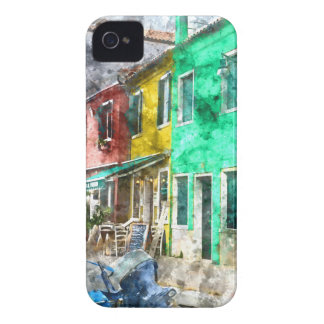 Coque Case-Mate iPhone 4 Burano Italie près de Venise Italie avec la Co