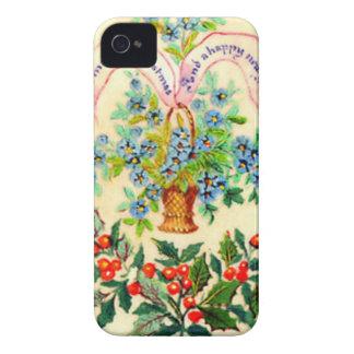 Coque Case-Mate iPhone 4 Carte de Noël victorienne