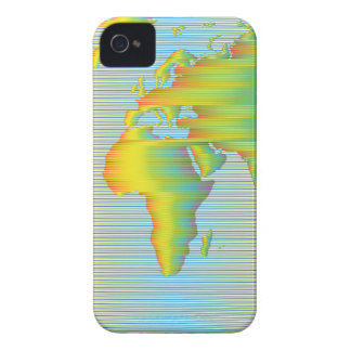 Coque Case-Mate iPhone 4 Carte du monde des bandes d'arc-en-ciel