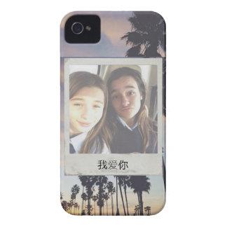 Coque Case-Mate iPhone 4 Cas d'image de Poleroid de palmier pour l'iPhone