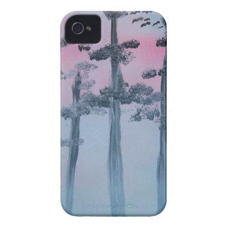 Coque Case-Mate iPhone 4 Ciel et arbres d'art de peinture de jet