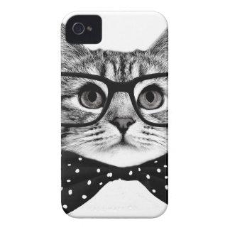 Coque Case-Mate iPhone 4 cravate d'arc de chat - chat en verre - chat en
