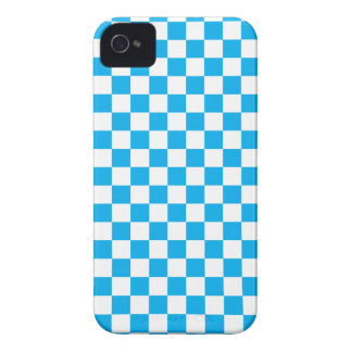 Coque Case-Mate iPhone 4 Damier bleu