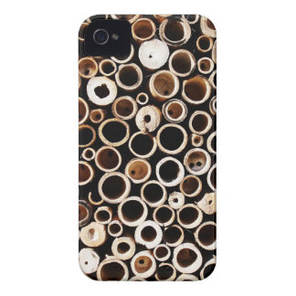 Coque Case-Mate iPhone 4 ennui naturel en bois de style de texture de Brown