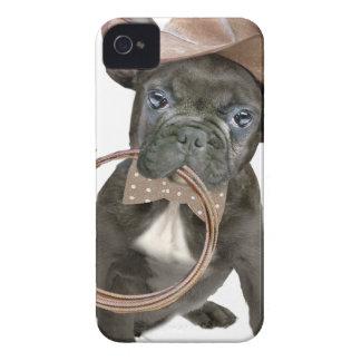 Coque Case-Mate iPhone 4 Garçon de la campagne de BOULEDOGUE FRANÇAIS