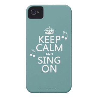 Coque Case-Mate iPhone 4 Gardez le calme et chantez dessus - toutes les