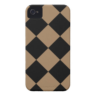 Coque Case-Mate iPhone 4 Grand Checkered de Diag - Brown noir et pâle