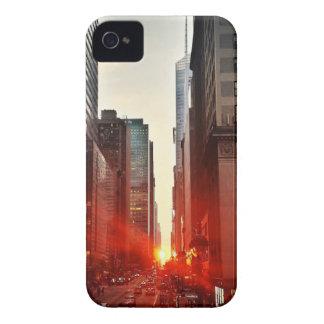 Coque Case-Mate iPhone 4 Gratte-ciel de bâtiments de ville de coucher du