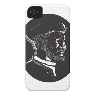 Coque Case-Mate iPhone 4 Gravure sur bois française en ovale d'explorateur