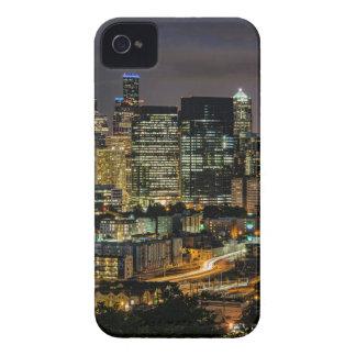Coque Case-Mate iPhone 4 Horizon de Seattle la nuit