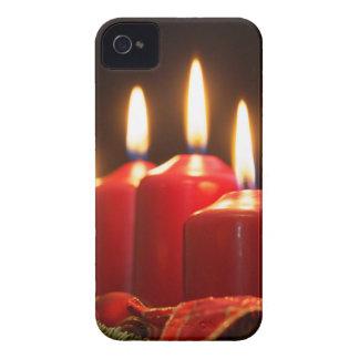 Coque Case-Mate iPhone 4 Les bougies rouges d'un avènement tressent avec