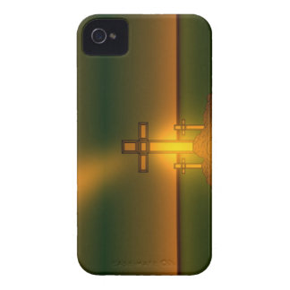 Coque Case-Mate iPhone 4 Lumière de l'aura de Dieu au-dessus de la croix du