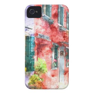 Coque Case-Mate iPhone 4 Maisons colorées dans Burano Italie près de Venise