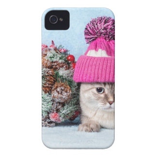 Coque Case-Mate iPhone 4 Miscellaneous - Cat With Woolly Hat Five