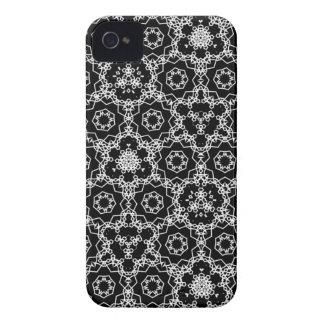 Coque Case-Mate iPhone 4 Motif triangulaire noir et blanc