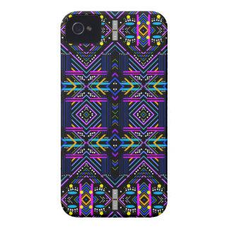 Coque Case-Mate iPhone 4 Nouveaux bleus linéaires de diamant