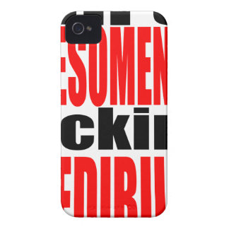 Coque Case-Mate iPhone 4 plein awesomeness manquant du motivatio de rouge
