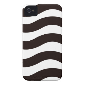 Coque Case-Mate iPhone 4 Rayures onduleuses noires