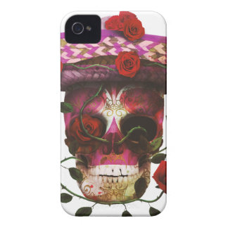 Coque Case-Mate iPhone 4 Roses mexicains de crâne