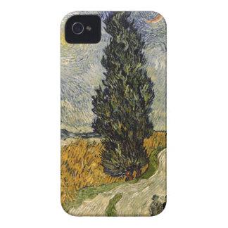 Coque Case-Mate iPhone 4 Route de Vincent van Gogh | avec des cyprès, 1890