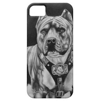 COQUE Case-Mate iPhone 5 CAISSE DE CELLULES D'IPHONE 5 CHARCOIL PITBULL