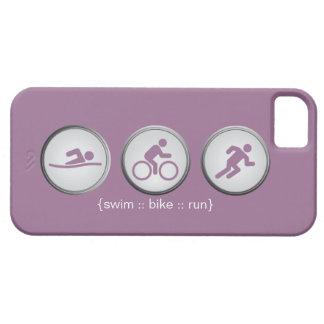 Coque Case-Mate iPhone 5 Cas de l'iPhone 5 de Bain-Vélo-Run de triathlon