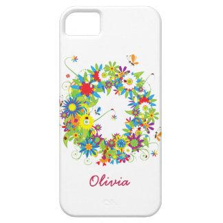Coque Case-Mate iPhone 5 Cas floral de Coque-Compagnon de l'iPhone 5 du