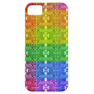 Coque Case-Mate iPhone 5 Copie géométrique de motif d'arc-en-ciel