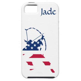 Coque Case-Mate iPhone 5 Drapeau américain d'archer de tir à l'arc des