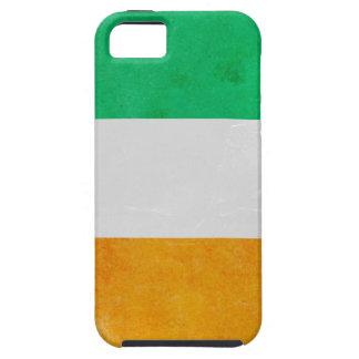 Coque Case-Mate iPhone 5 Drapeau tricolore irlandais de Grunge de l'Irlande