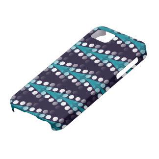 Coque Case-Mate iPhone 5 Flèches turquoises et caisse blanche de l'iPhone 5