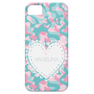 Coque Case-Mate iPhone 5 Le camouflage Girly de ressort personnalisent