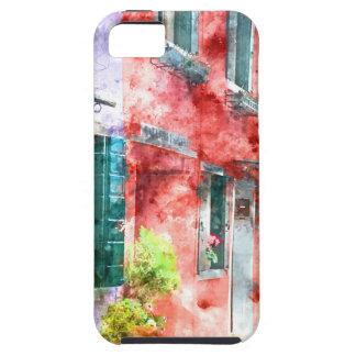 Coque Case-Mate iPhone 5 Maisons colorées dans Burano Italie près de Venise