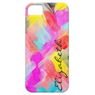 Coque Case-Mate iPhone 5 Monogramme abstrait coloré par pastel