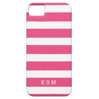 Coque Case-Mate iPhone 5 Monogramme de rose indien et blanc de classique de