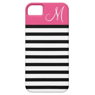Coque Case-Mate iPhone 5 Monogramme de très bon goût de coutume de rayures