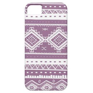 Coque Case-Mate iPhone 5 Motif aztèque tribal de dentelle (pourpre)