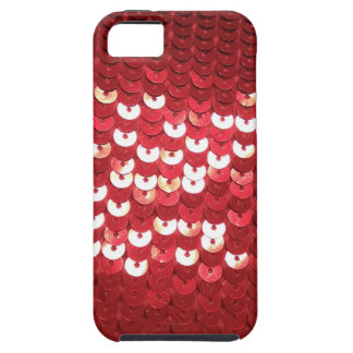 Coque Case-Mate iPhone 5 Paillettes rouges brillantes