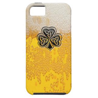 Coque Case-Mate iPhone 5 Shamrock chanceux irlandais de bière drôle joyeuse